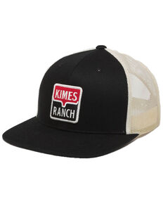 Kimes Ranch Black Explicit Warning Mesh Trucker Cap   , Black, hi-res