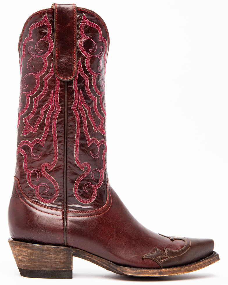 Idyllwind Women's Roanoke Performance Western Boots - Snip Toe, Dark Red, hi-res