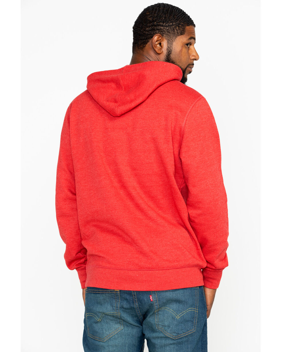 Levis Men's Burndlen Logo Graphic Pullover Hoodie , Dark Red, hi-res