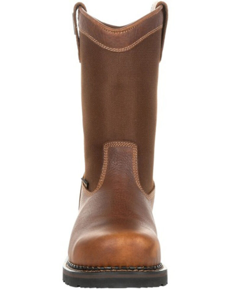 Georgia Boot Men's Revamp Waterproof Western Work Boots - Steel Toe, Brown, hi-res