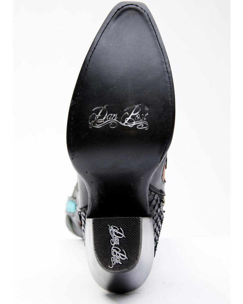 Dan Post Women's Western Music Embroidery Western Boots - Snip Toe, Black, hi-res
