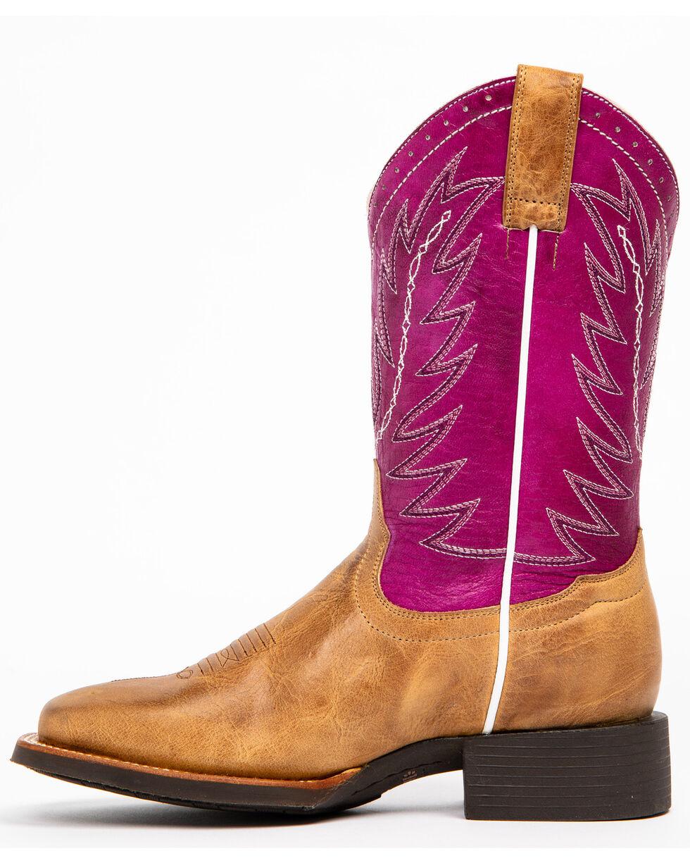 Shyanne Women's Hakka Western Boots - Square Toe, Brown, hi-res