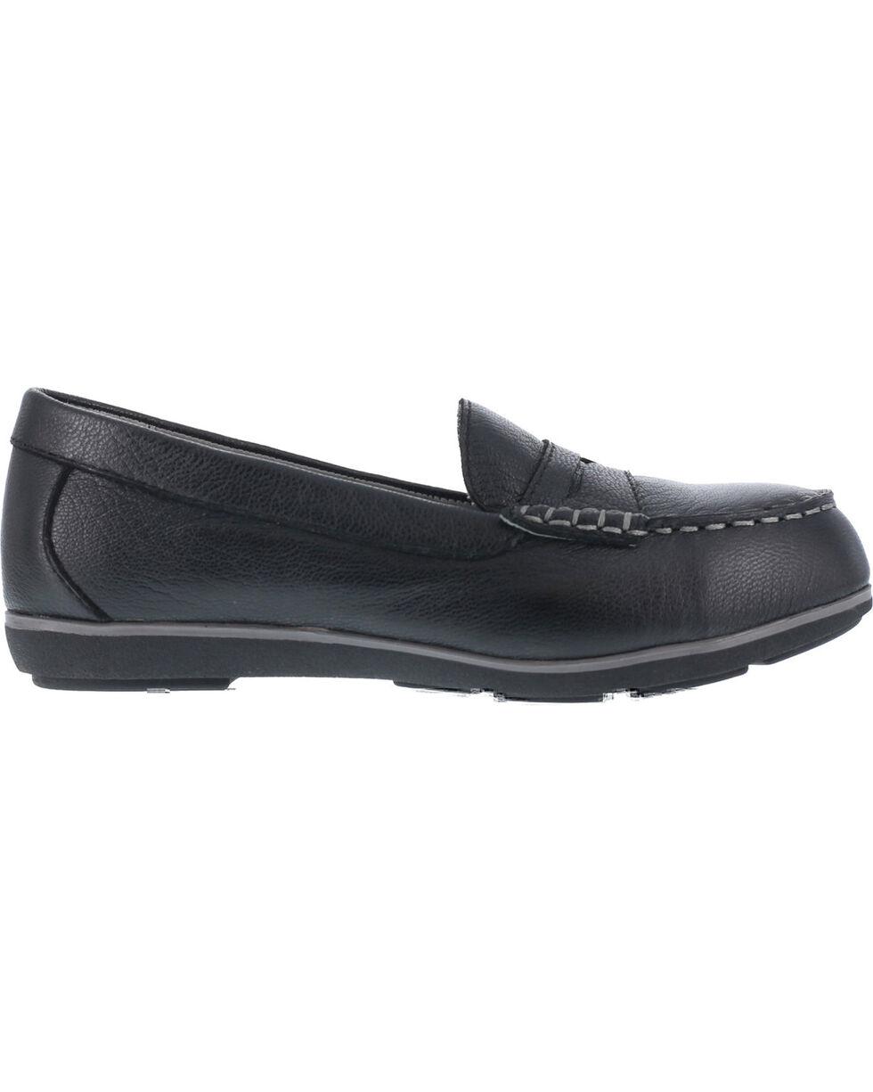 Rockport Women's Top Shore Penny Loafer Shoes - Steel Toe , Black, hi-res