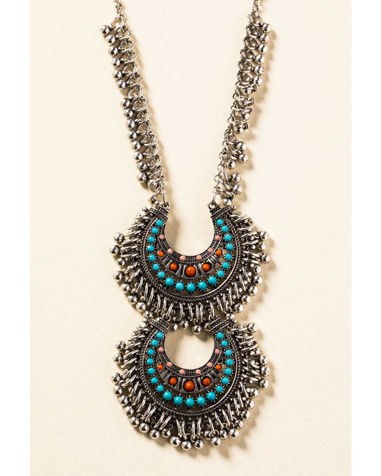 Shyanne Women's In The Oasis Two Tier Reverse Crescent Necklace, , hi-res