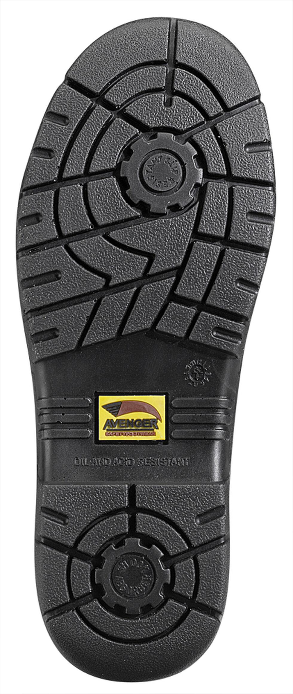 Avenger Men's Brown Pebbled Leather Anti-Slip Work Boots - Steel Toe, Brown, hi-res