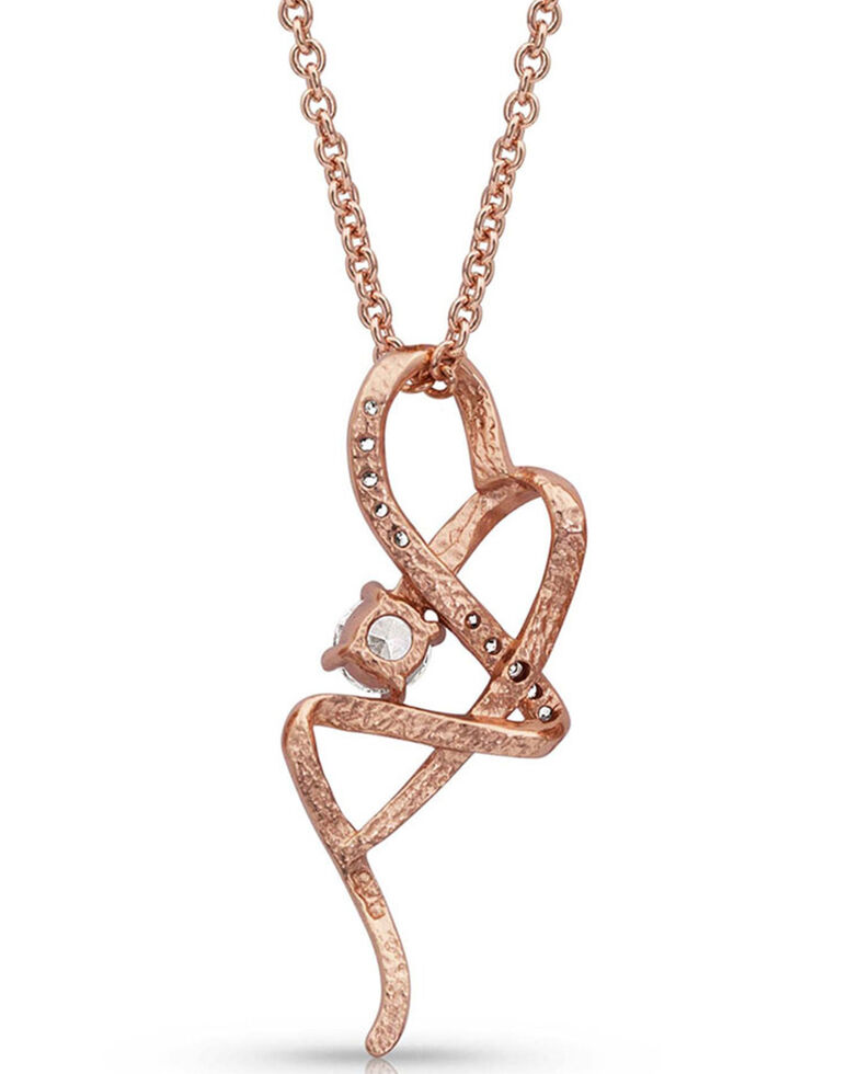 Montana Silversmiths Women's It's Rose Gold Complicated Necklace, , hi-res