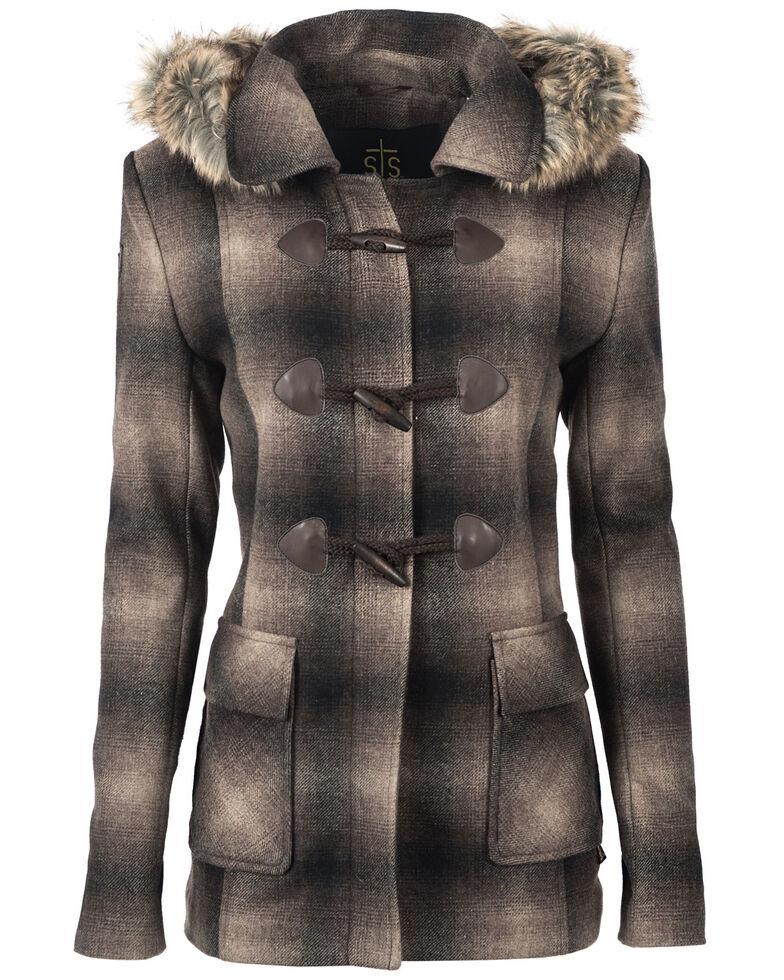STS Ranchwear Women's The Story Wool Jacket - Plus, Brown, hi-res
