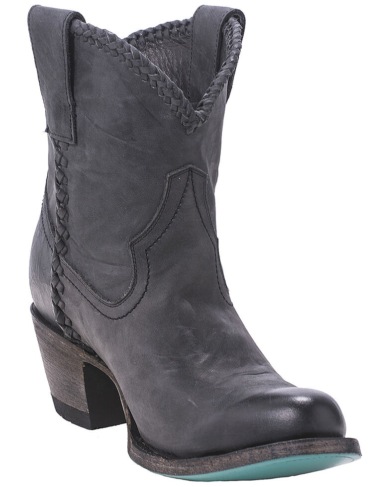 Lane Women's Plain Jane Booties - Round Toe, Black, hi-res