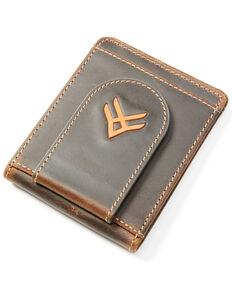 Hawx Men's Logo Money Clip Wallet, Brown, hi-res