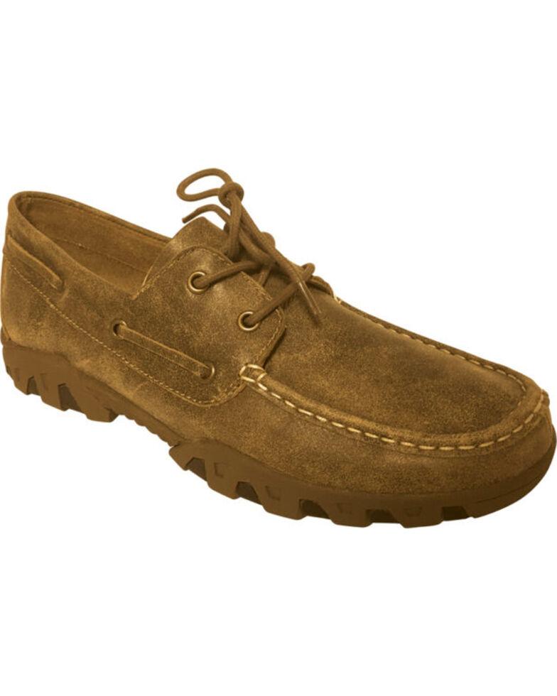 Ferrini Men's Mocha Laced Loafers - Moc Toe, Lt Brown, hi-res
