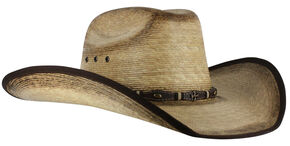Cody James Men's Ponderosa Straw Cowboy Hat , Natural, hi-res