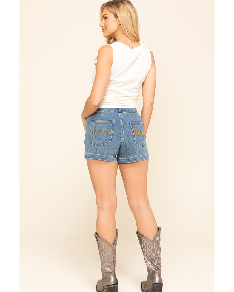 Idyllwind Women's Westwood High Rise Denim Shorts, Blue, hi-res