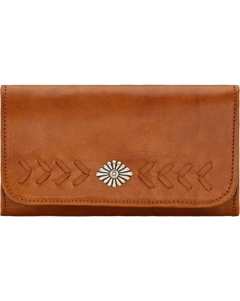 American West Mohave Canyon Ladies' Golden Tan Tri-Fold Wallet, Golden Tan, hi-res