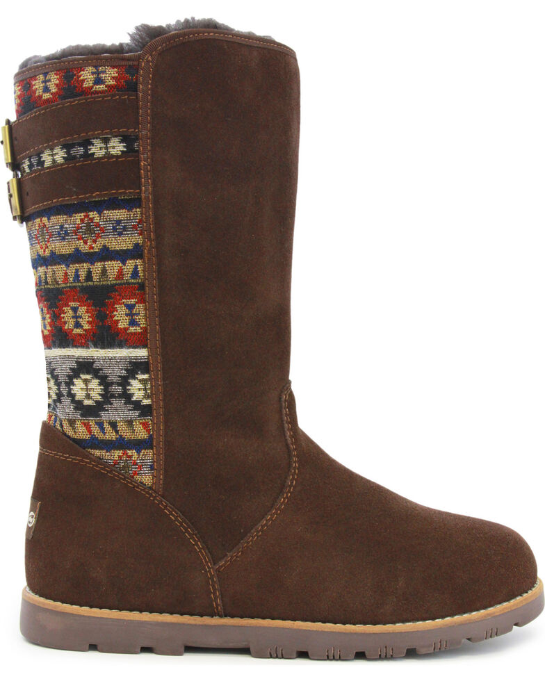 Lamo Footwear Women's Melanie Suede Winter Boots - Round Toe, Chocolate, hi-res