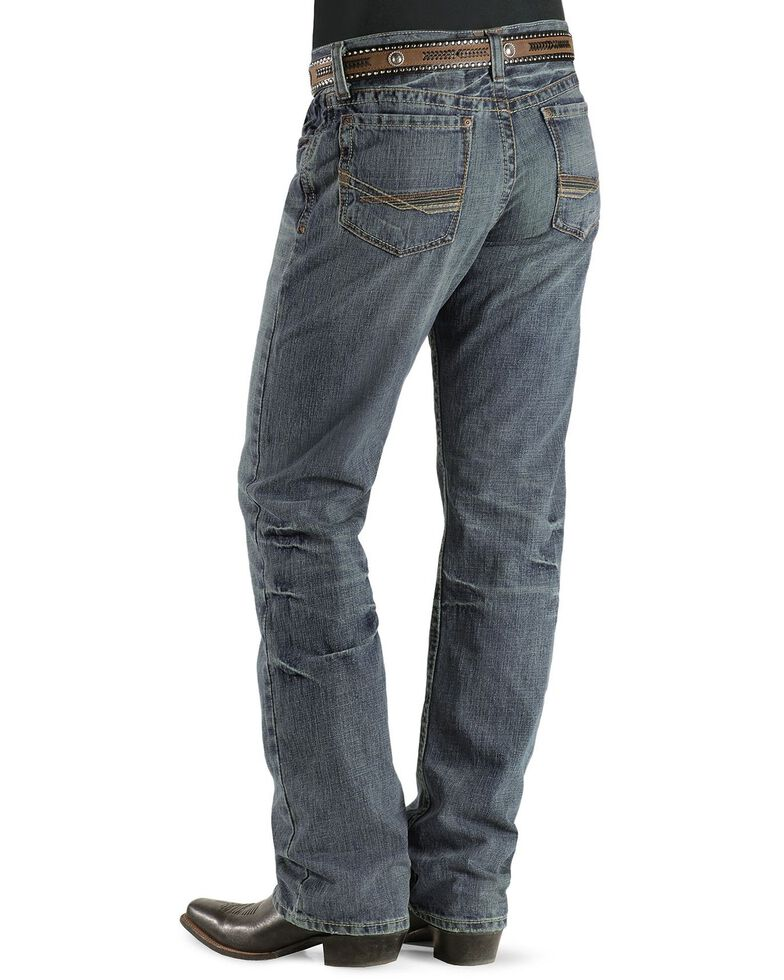 Ariat Denim Jeans - M4 Scoundrel Relaxed Fit - Big & Tall, Med Stone, hi-res