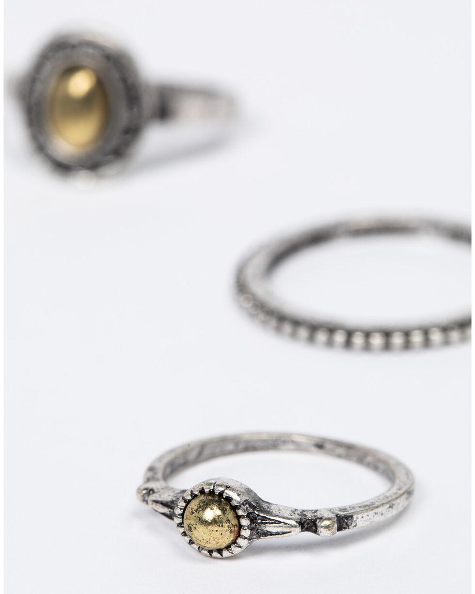 Shyanne Women's 2-Tone Multi Ring Set, Silver, hi-res