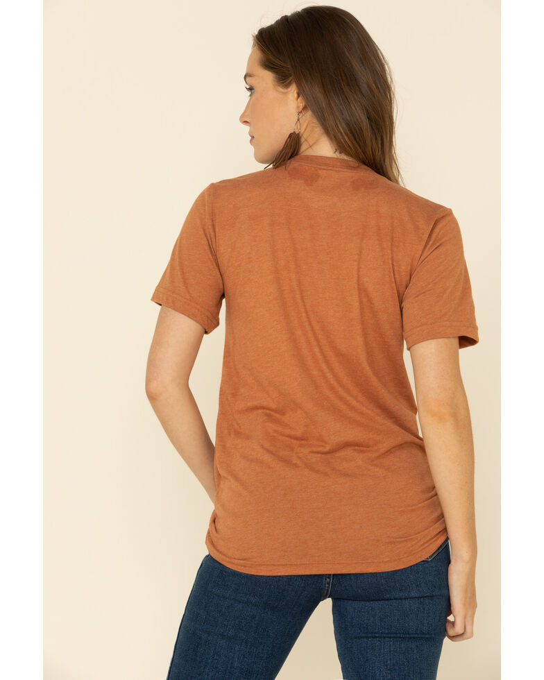 Ranch Dress'n Women's Am I Ranchy Yet Graphic Tee , Rust Copper, hi-res