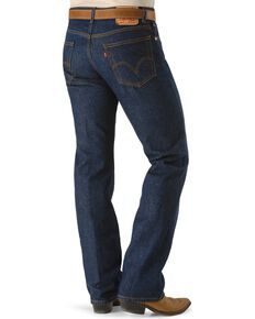 Levis Men's 517 Rigid Boot Cut Jeans - Tall, Indigo, hi-res