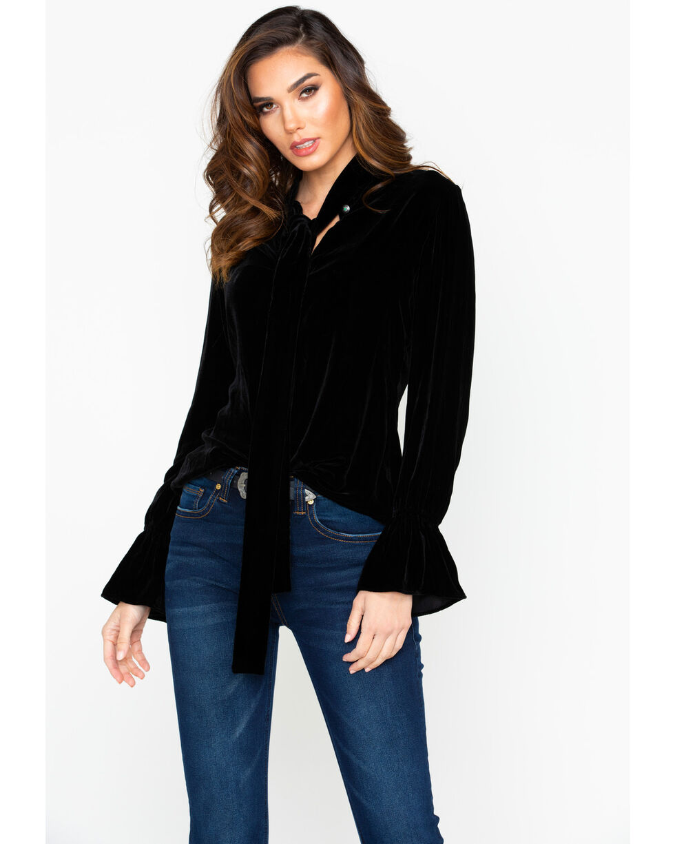 Tasha Polizzi Women's Duchess Blouse , Black, hi-res
