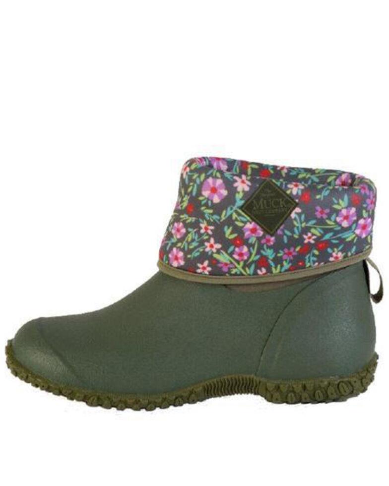 Muck Boots Women's Green Muckster II Short Boots - Round Toe, Green, hi-res