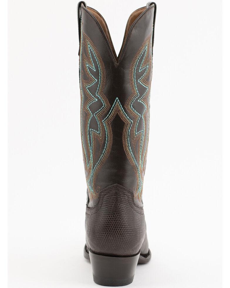Ferrini Chocolate Lizard Cowgirl Boots - Snip Toe, Chocolate, hi-res