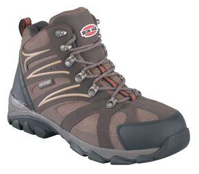 Iron Age Men's Surveyor Hiker Boots - Steel Toe, Brown, hi-res