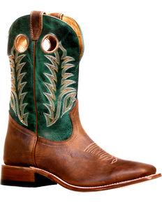 Boulet Men's Challenger Faraon Peppermint Stockman Cowboy Boots - Square Toe, Brown, hi-res
