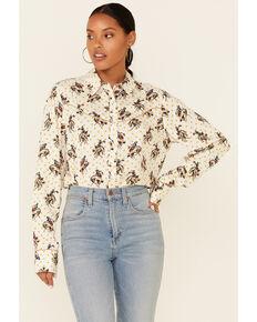 Joseph Studio Women's Multi Bucking Horse Print Long Sleeve Snap Western Shirt , Multi, hi-res