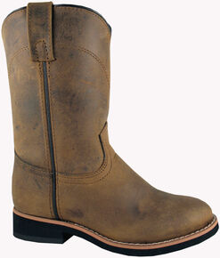 Smoky Mountain Toddler Boys' Muskogee Roper Western Boots - Round Toe, Brown, hi-res