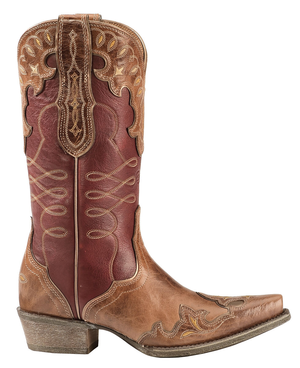 Ariat Brown Zealous Cowgirl Boots - Snip Toe  , Brown, hi-res