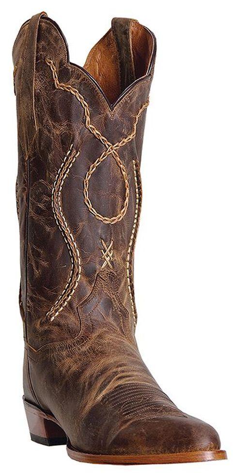 Dan Post Men's Albany Cowboy Boots - Medium Toe, Tan, hi-res