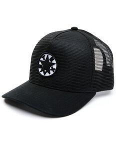 Oil Field Hats Men's Heather Grey & Black Texas Star Patch Mesh-Back Ball Cap , Charcoal, hi-res