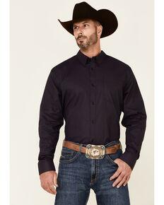 Cody James Core Men's Telegraph Small Geo Print Long Sleeve Button-Down Western Shirt - Big & Tall , Purple, hi-res