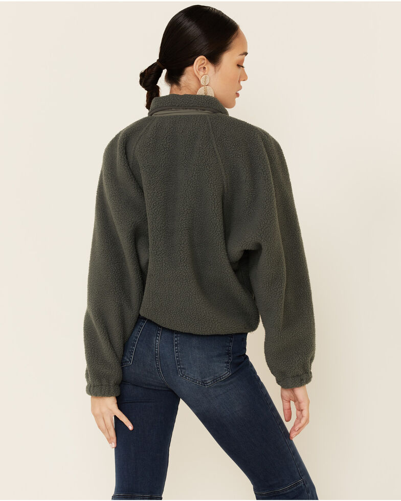 Free People Women's Hit The Slopes Pullover, Loden, hi-res