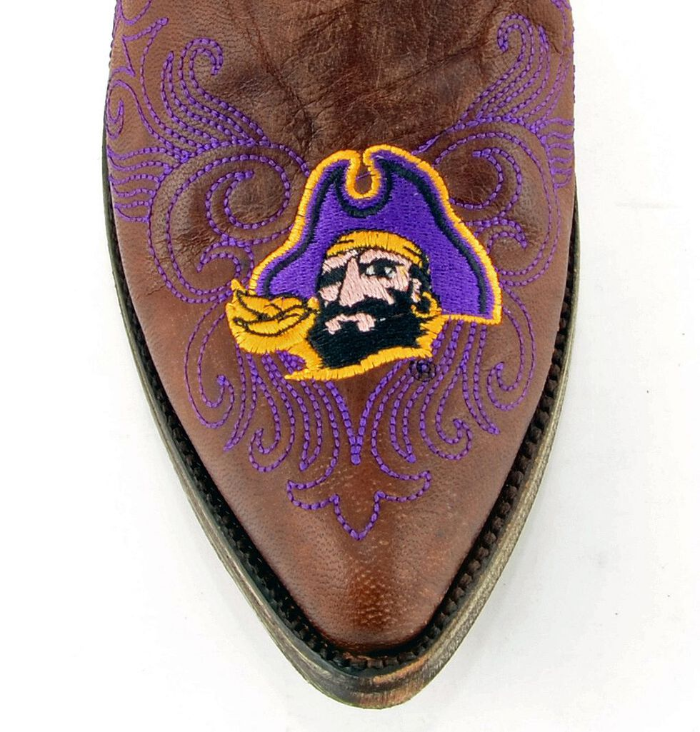 Gameday East Carolina State University Cowgirl Boots - Pointed Toe, Brass, hi-res