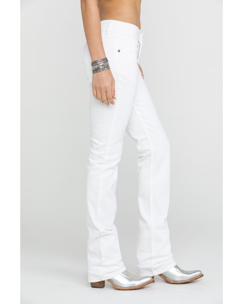 Wrangler Women's White Mid-Rise Straight Everyday Jean, White, hi-res
