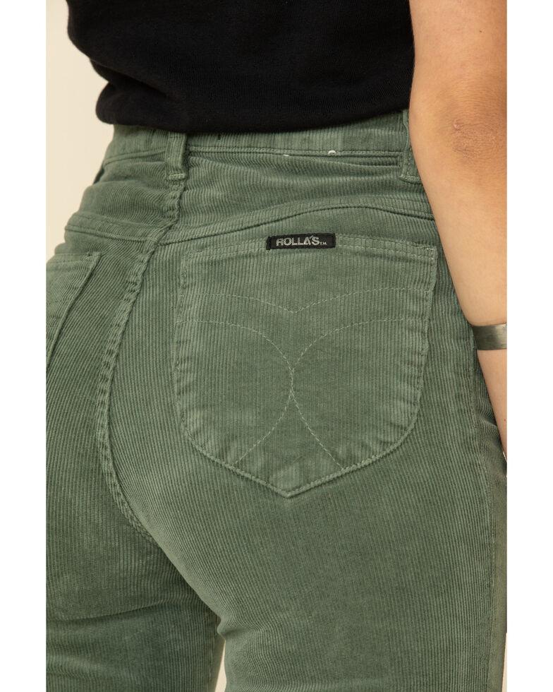 Rolla's Women's Sage East Coast Corduroy Flare Leg Jeans, Sage, hi-res