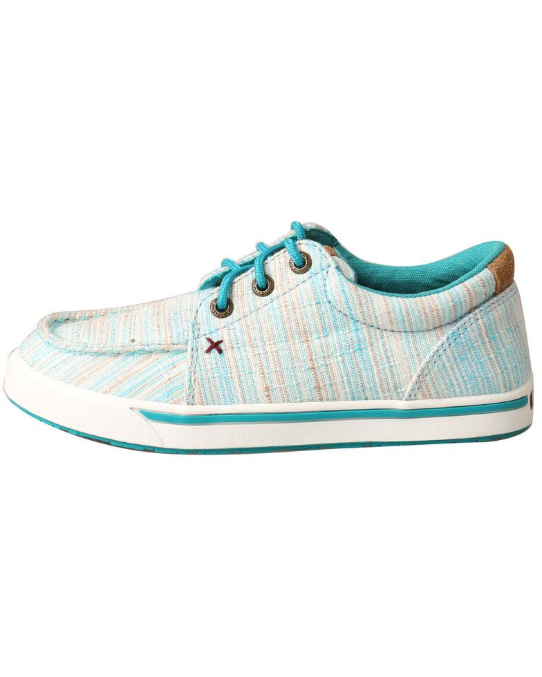 Twisted X Youth Boys' Blue HOOey Loper Shoes - Moc Toe, Blue, hi-res
