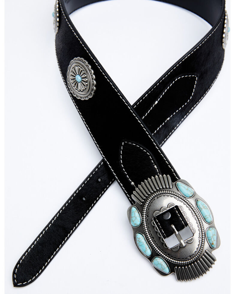 Idyllwind Women's Say It Loud Concho Belt, Black, hi-res