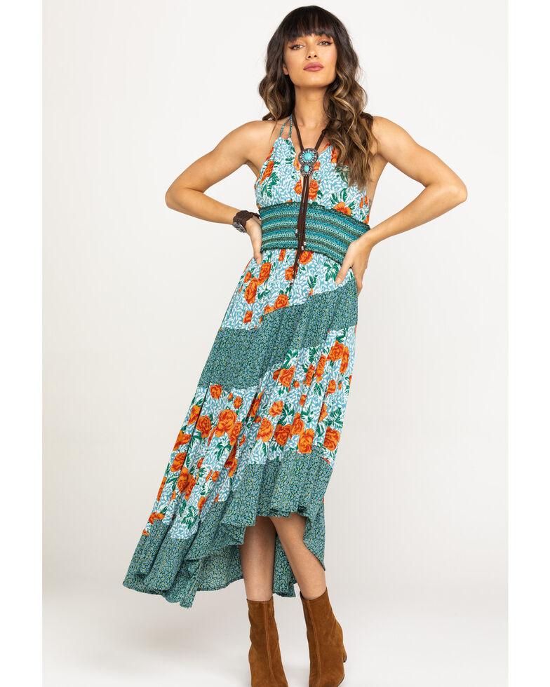 Free People Women's Gabriela Slip Dress, Blue, hi-res