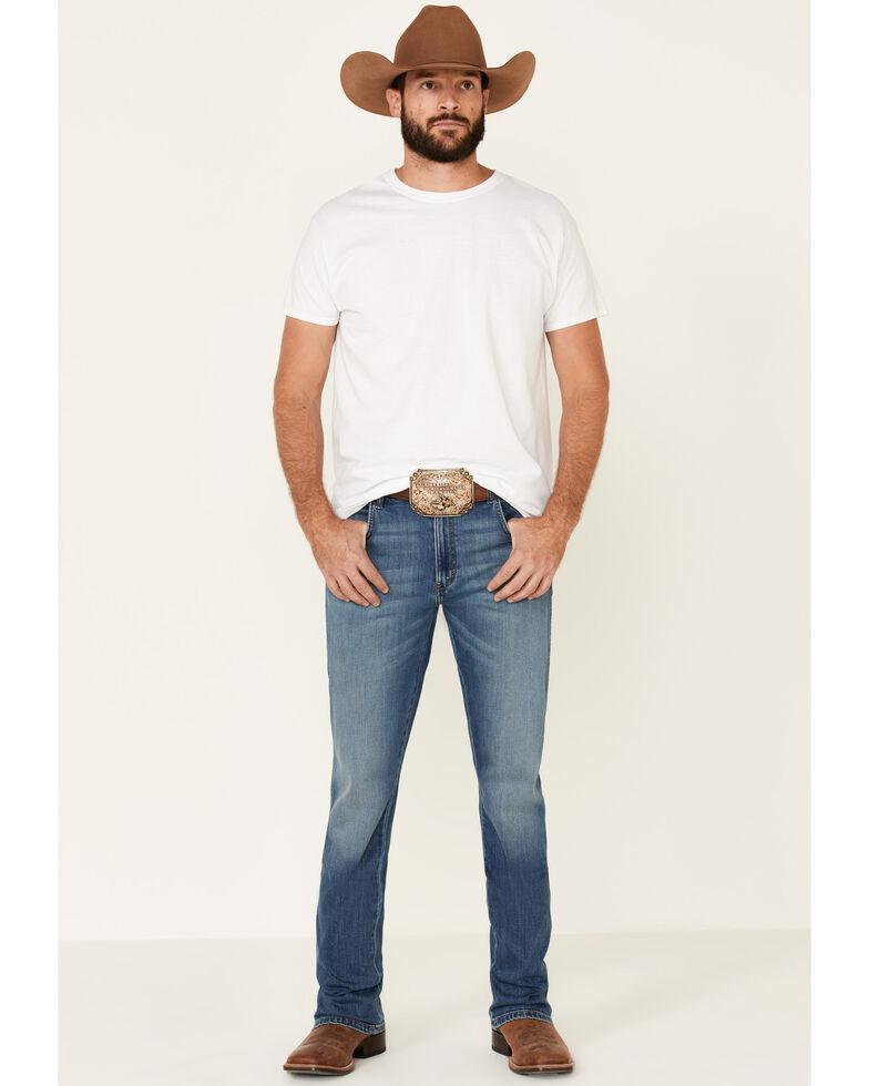 Wrangler Retro Men's Starry Night Stretch Slim Bootcut Jeans , Blue, hi-res