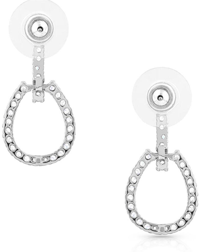 Montana Silversmiths Women's Glittering Tapadero Earrings, Silver, hi-res