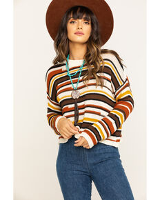 White Crow Women's Lenora Sweater Top, Rust Copper, hi-res