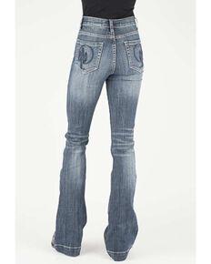 Stetson Women's Cactus Pocket Flare Jeans, Blue, hi-res
