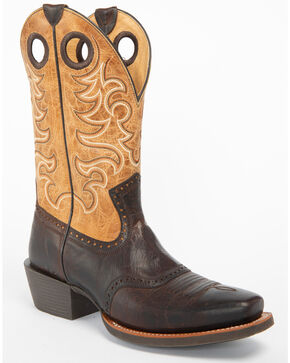 Moonshine Spirit Men's Eastwood Western Boots - Square Toe, Brown, hi-res