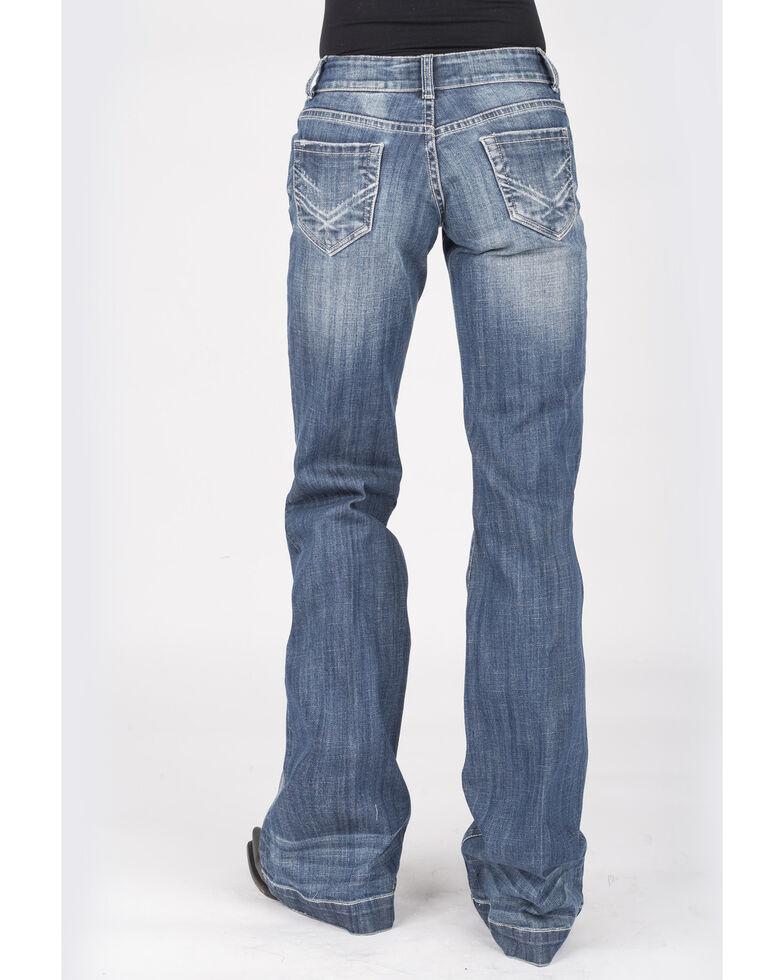 Stetson Women's Medium 214 Trouser Fit Jeans, Blue, hi-res