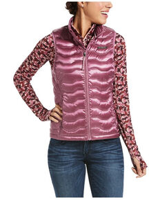 Ariat Women's Rose Cocoa 3.0 Ideal Down Vest , Pink, hi-res
