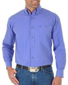 George Strait by Wrangler Men's Purple Long Sleeve Shirt , Purple, hi-res