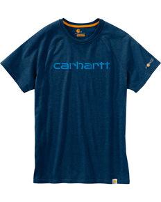 Carhartt Force Men's Cotton Delmont Graphic Short Sleeve Shirt - Big , Medium Blue, hi-res