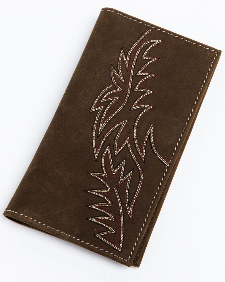 Cody James Men's Brown Inlay Checkbook Wallet , Brown, hi-res